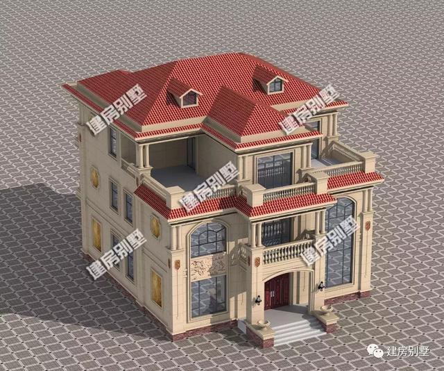 带堂屋和健身房的豪华农村别墅,一栋能让你在老家出名的房子