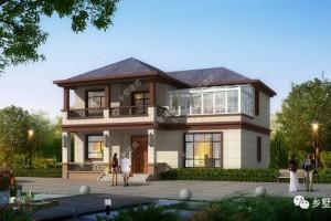 13X10.6米农村自建二层小别墅方案,实用上档次。