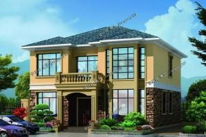 11×10.6米二层别墅设计图纸,简约大气实用。
