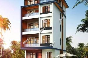 占地80平农村自建5层别墅方案,设计感极强。