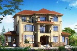 三款别墅三层设计效果图,显得庄重大方。