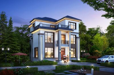经典新中式风格农村三层复式楼别墅设计图,含外观图片