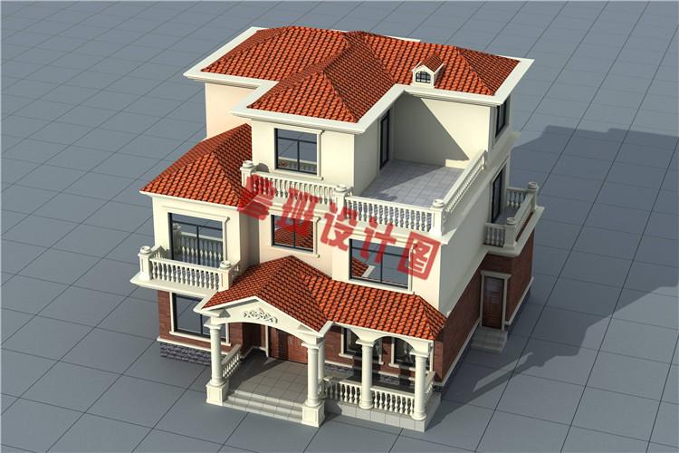 最新农村三层别墅全套设计施工外观图