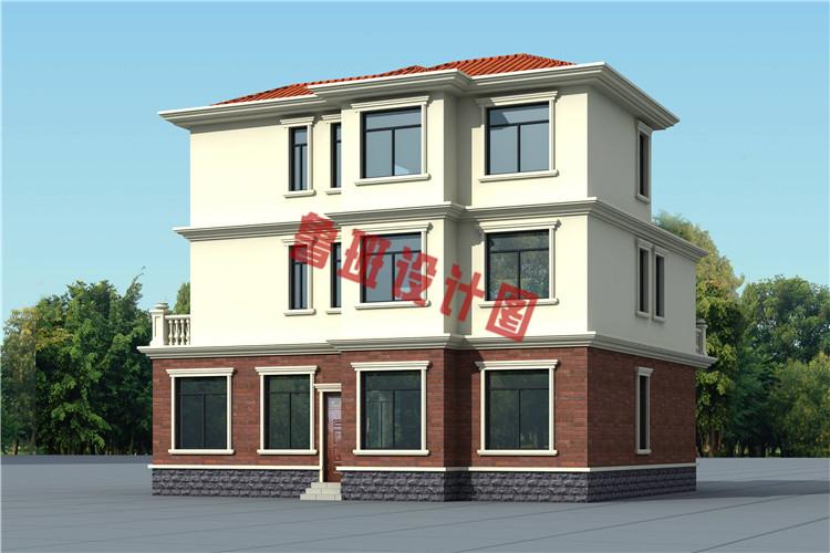 最新农村三层别墅全套设计施工图片