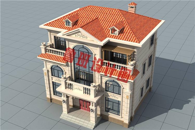 新款带电梯设计乡村轻奢简欧式三层别墅设计外观图