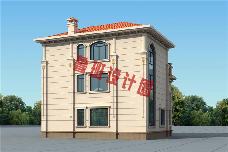新款带电梯设计乡村轻奢简欧式三层别墅设计图片