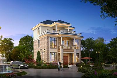 2019农村三层别墅全套CAD设计施工图,10×12米简欧式风格