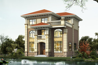 100-110平米农村三层自建小洋楼房设计施工图,简欧小别墅,11X10米