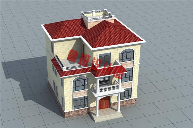 130平方米三层复式别墅设计外观图