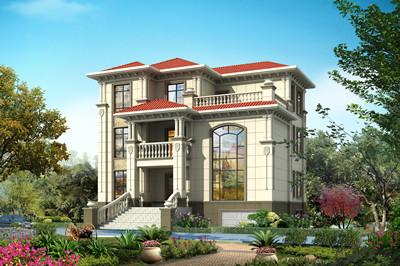新款农村三层复式自建房别墅设计图,带地下室设计
