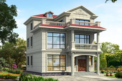 小户型农村小洋楼图纸,三层别墅设计施工图及