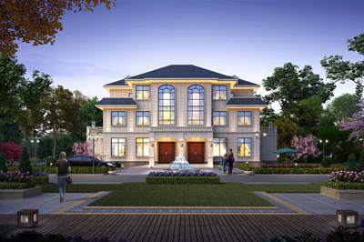 双拼别墅设计图农村三层户型图,带独立厨房,两兄弟一起建最好