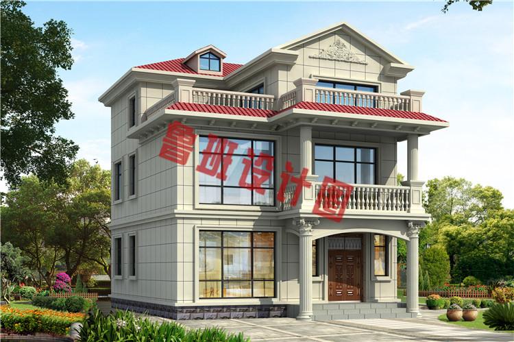 农村小户型三层别墅设计效果图