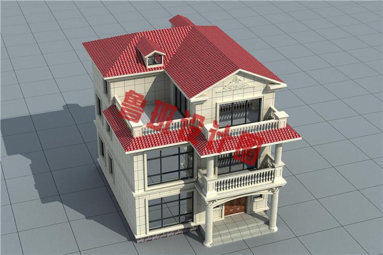 农村小户型三层别墅设计外观图