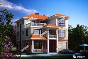 宽10-11米的三层别墅设计图纸,造型美观。