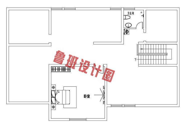 新式农村一层带阁楼别墅设计阁楼户型图