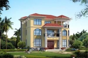 带大堂屋和凉亭的别墅三层设计效果图,网友们抢着要建它。