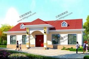 3款一层别墅设计效果图,外观清新简约。