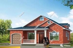 带阁楼农村一层别墅设计图纸,简单实用布局好。