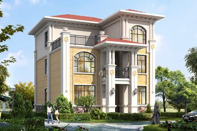 复式二层半经典农村自建别墅设计图,造价32万左右
