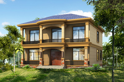 精致二层简欧户型图二层别墅设计图,实用又美观