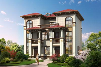 经济型实用兄弟双拼三层别墅自建房设计图,占地110平方米左右