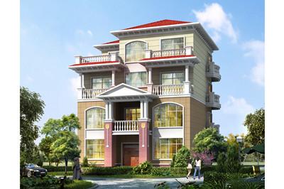 高端大气三层半复式别墅房屋设计图,140平方米设计豪华时尚