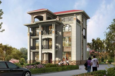 豪华大气四层带露台独栋别墅设计图纸,含全套施工图