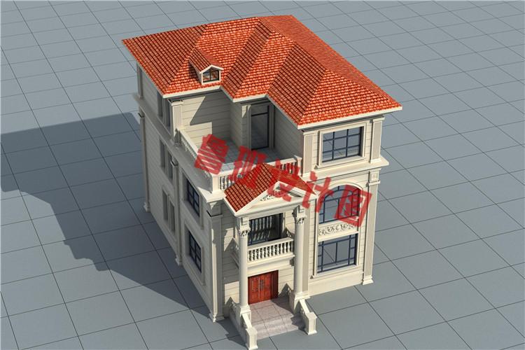 简欧式三层农村自建别墅设计图片
