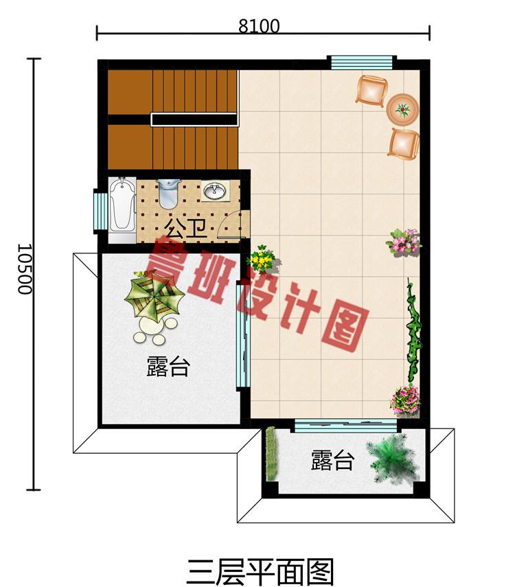 小户型农村小洋楼图纸,三层别墅设计施工图及效果图