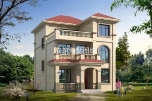 9.6*12.8三层欧式别墅图片,自己建房已成为大众的潮流。