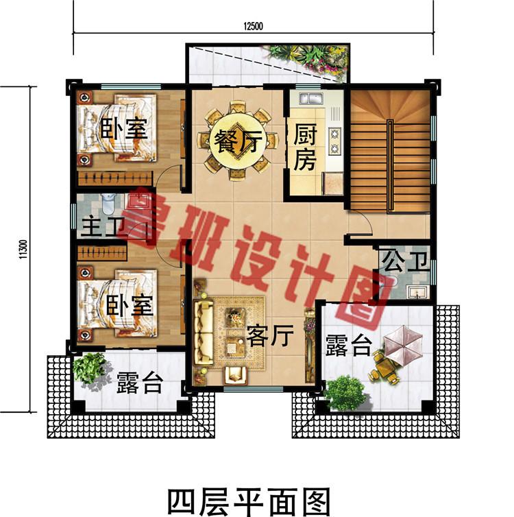 2019年新款豪华四层别墅房屋设计效果图,经典实用够气派