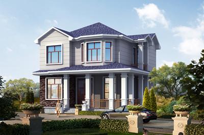 70-80平方米简约清新二层农村自建房屋设计图,绝对的经济型别墅