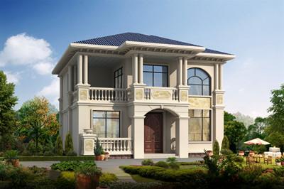 乡村二层欧式别墅设计图,外观简约时尚11×12米