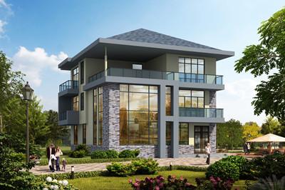 超现代风格农村别墅设计图,外观低调奢华
