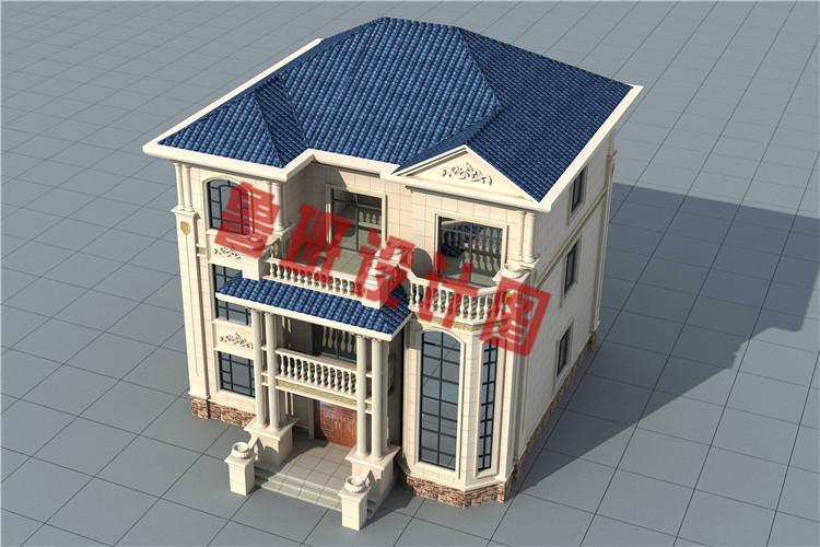 农村三层复式自建房别墅设计外观图