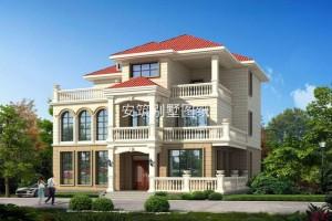 外观奢华的复式别墅三层设计效果图,性价比超级高。