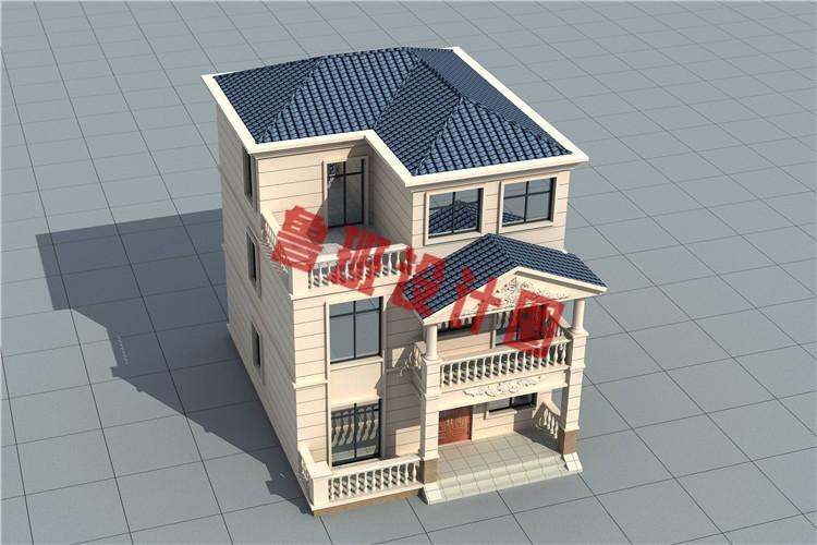 简约大气小户型三层欧式别墅设计图片