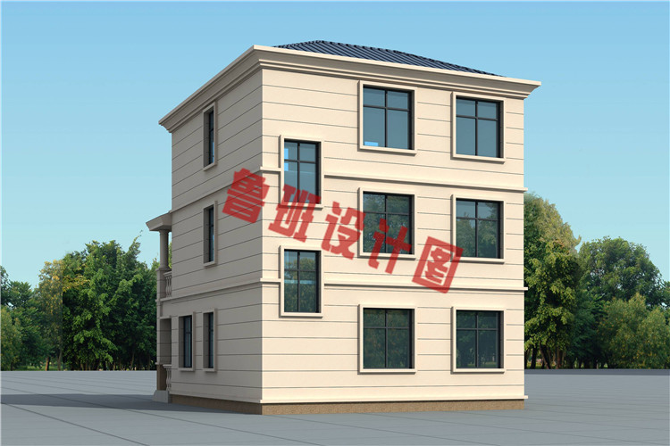 简约大气小户型三层欧式别墅设计外观图