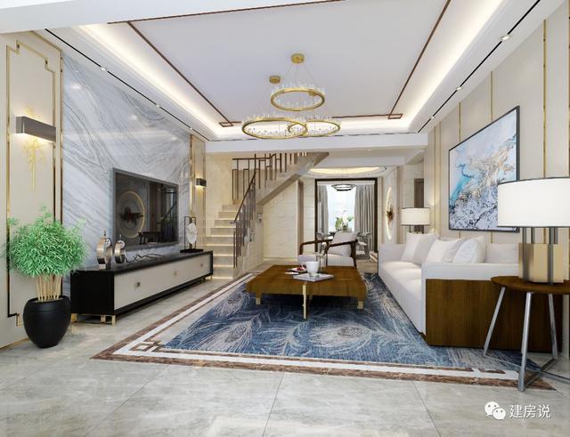面宽12米的新中式别墅,带庭院,31万建一栋