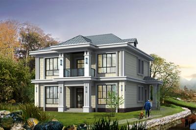 现代简约二层小别墅设计图,占地140平方米