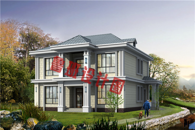 现代简约二层小别墅设计效果图