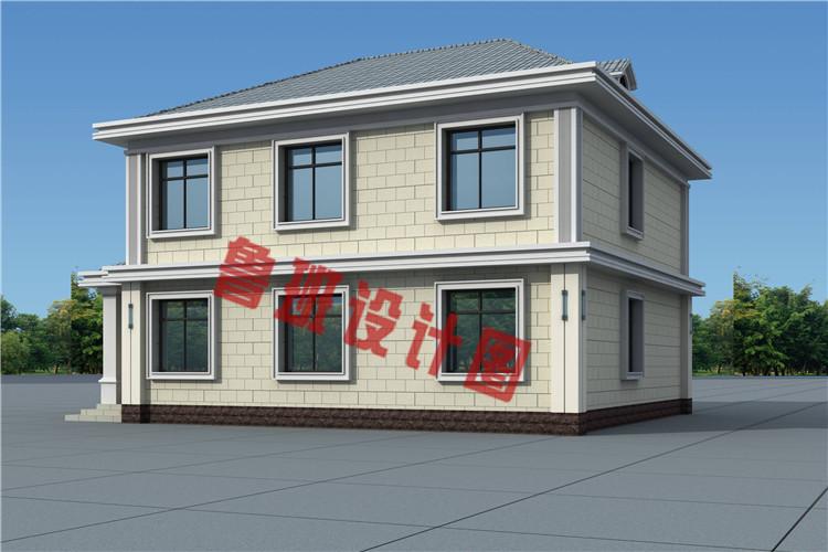 现代简约二层小别墅设计外观图