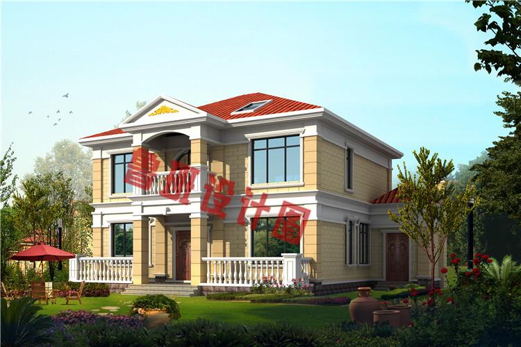 简单实用二层别墅设计效果图