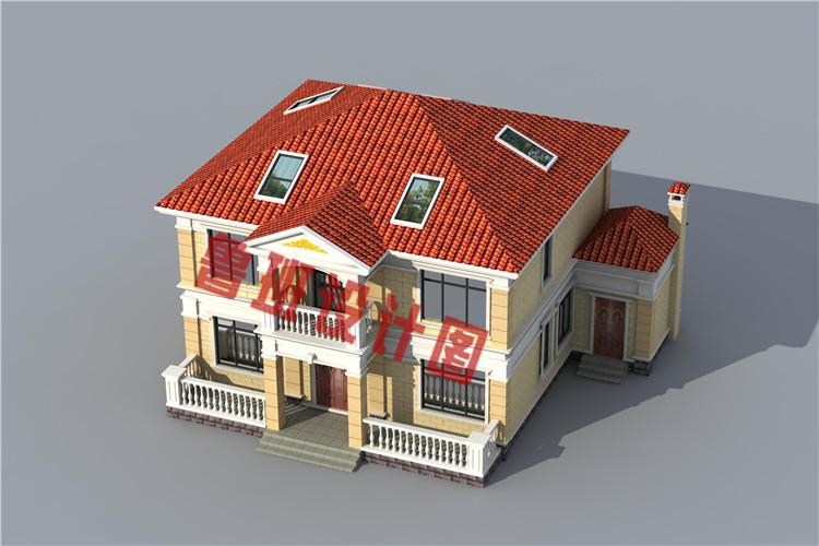 简单实用二层别墅设计外观图