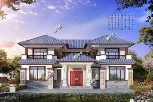 心里的完美二层别墅设计图纸,中式古典与现代元素的完美融合。