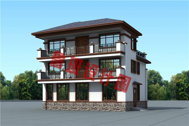 新中式农村三层别墅设计图片