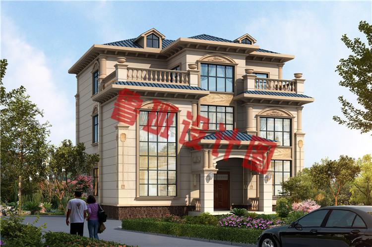 新款三层欧式复式别墅设计效果图