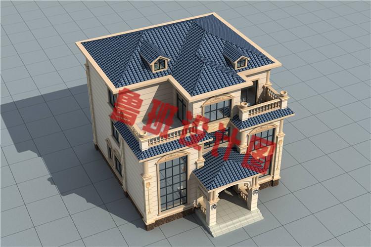 新款三层欧式复式别墅设计外观图