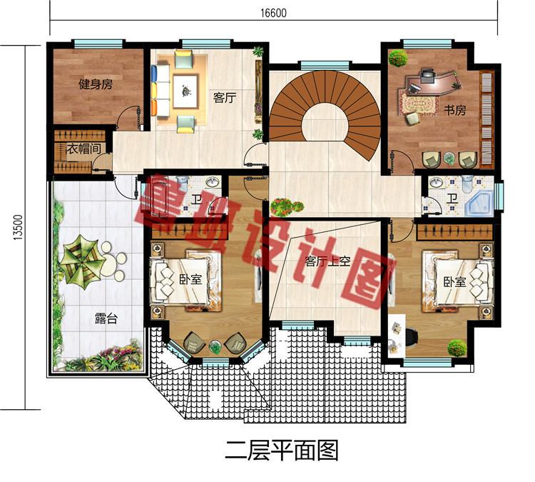 农村新款二层带车库别墅设计图,外观高端大气